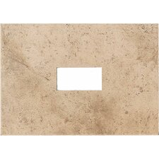 "Costa Rei 14"" x 10"" Glazed Decorative Wall Tile with Cutout in Oro Miele"