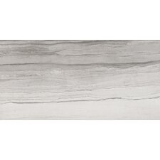 "Motion 19"" x 39"" Porcelain Field Tile in Gray"