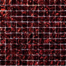 Vista Glass Mosaic Tile in Red