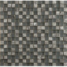 Lucente Glass Mosaic Tile in Grey