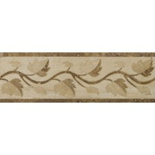 "Natural Stone 12"" x 4"" Waterjet Travertine Listello in Garda"