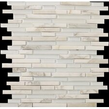 Lucente Random Sized Stone and Glass Mosaic Tile in Ambrato