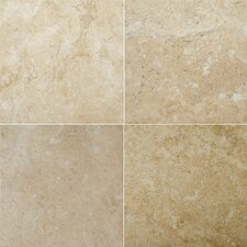 "Natural Stone 12"" x 12"" Travertine Field Tile in Dore Antique"