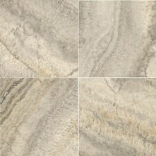 "Natural Stone 12"" x 12"" Travertine Field Tile in Silver"