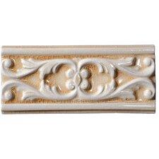 """Cape Cod 9"""" x 4"""" Seashore Accent Tile in Antique Beige Crackle"""