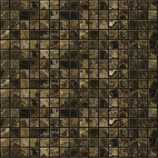 "Natural Stone 0.5"" x 0.5"" Marble Mosaic Tile in Emperador Dark"