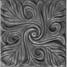 "Renaissance 4"" x 4"" Bari Accent Tile in Antique Nickel"