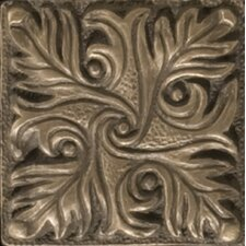 "Renaissance 2"" x 2"" Parma Insert Tile in Antique Bronze"