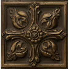 """Renaissance 4"""" x 4"""" Toscana Accent Tile in Antique Bronze"""