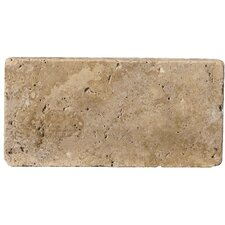 "Natural Stone 4"" x 8"" Travertine Field Tile in Mocha"