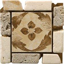 """Natural Stone 4"""" x 4"""" Arena Travertine Listello Corner"""
