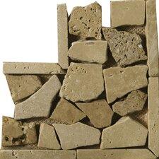 """Natural Stone 4"""" x 4"""" Broccato Travertine Random Listello Corner"""