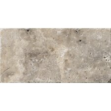 """Natural Stone 3"""" x 6"""" Travertine Subway Tile in Silver"""