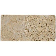 "Natural Stone 8"" x 12"" Travertine Field Tile in Mocha"