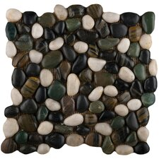 Rivera Random Sized Pebble Tile in Spring