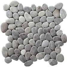 Venetian Random Sized Pebble Tile in Silver