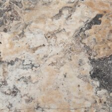 "Trav Chiseled 16"" x 16"" Travertine Field Tile in Multi-color"