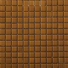 "Lucente 1"" x 1"" Glass Mosaic Tile in Amber"