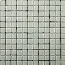"Lucente 1"" x 1"" Glass Mosaic Tile in Crystalline"