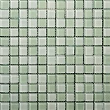 "Lucente 1"" x 1"" Glass Mosaic Tile in Crystalline / Cascade"
