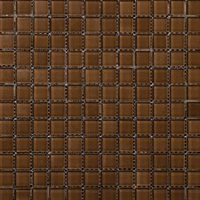 "Lucente 1"" x 1"" Glass Mosaic Tile in Mulberry"