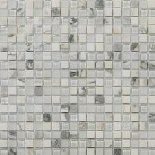 "Lucente 0.63"" x 0.63"" Stone and Glass Mosaic Tile in Ambrato"