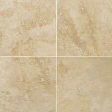 "Natural Stone 12"" x 12"" Travertine Field Tile in Umbria Savera (Set of 2)"