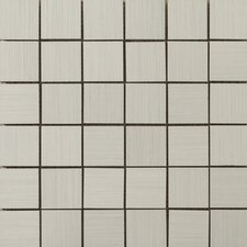 """Strands 2"""" x 2"""" Porcelain Mosaic Tile in Pearl"""