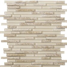 Lucente Random Sized Glass Mosaic Tile in Servolo Linear