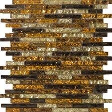Vista Random Sized Glass Mosaic Tile in Caldo Linear Blend
