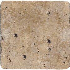 "Natural Stone 8"" x 8"" Travertine Field Tile in Mocha"