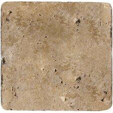 "Natural Stone 6"" x 6"" Travertine Field Tile in Mocha"