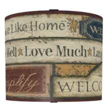 Country Sign Drum Lamp Shade