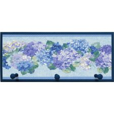 'Blue Hydrangea Bunches' Plaque with Pegs