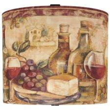 "13"" Wine Still Life Polystyrene Drum Shade"