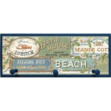 Captain Moss Seaside Signs Plaque with Pegs Wall Décor