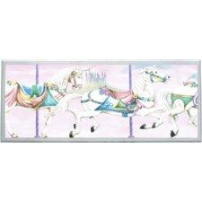 Unicorn Carousel Wall Plaque