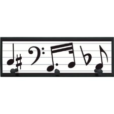 Music Graphic Art on Plaque with Pegs