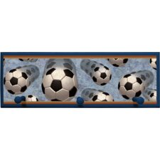Soccer in Motion Wall Plaque with Wooden Pegs