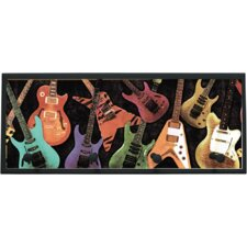 Guitar Montage Wall Plaque with Wooden Pegs