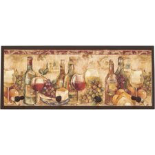 Wine Still Life Painting Print on Plaque with Pegs