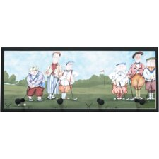 Whimsy Golf Painting Print on Plaque with Pegs