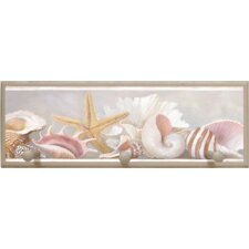 Starfish and Shells Framed Graphic Art with Pegs