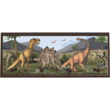 Dino Painting Print on Plaque with Pegs