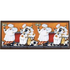 Chefs A Cookin Painting Print on Plaque with Pegs