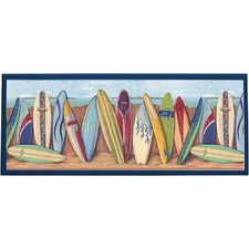 Surfing Wall Framed Painting Print