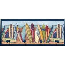 Surfing Wall Painting Print on Plaque