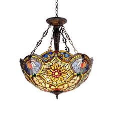 Victorian 3 Light Rebecca Inverted Ceiling Pendant
