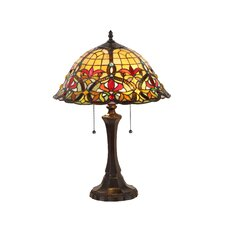 "Victorian Bertram 21.7"" H Table Lamp with Bowl Shade"