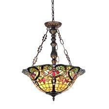 Victorian 3 Light Bertram Inverted Ceiling Pendant